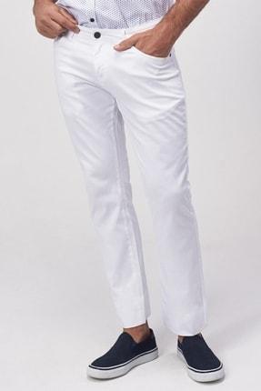 Altınyıldız Classics Erkek Beyaz Slim Fit Armürlü Pantolon 2