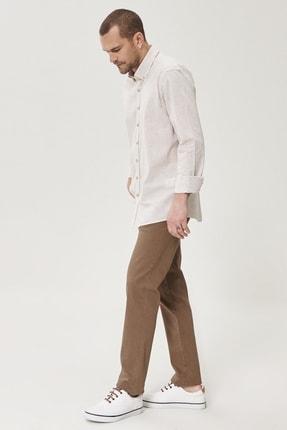 Altınyıldız Classics Erkek Vizon 360 Derece Her Yöne Esneyen Rahat Slim Fit Pantolon 3