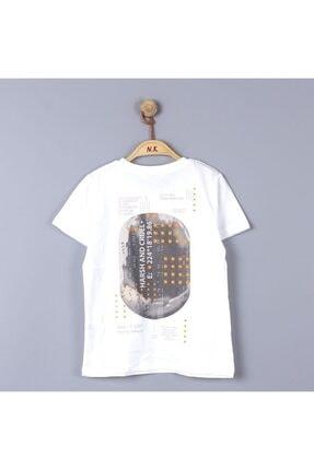 NK Erkek Çocuk Beyaz Turuncu Steps Tshirt 2