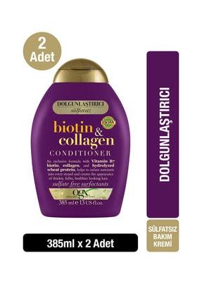 OGX Dolgunlaştırıcı Biotin & Kolajen Sülfatsız Bakım Kremi 385 ml x2 0
