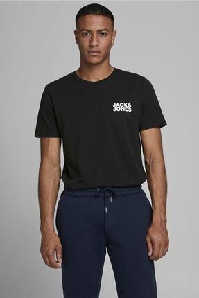 Jack & Jones JJECORP LOGO TEE SS O-NEC Siyah Erkek T-Shirt 101069463 0