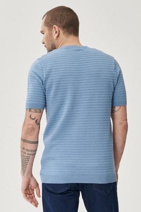 Altınyıldız Classics Erkek Mavi 360 Derece Her Yöne Esneyen Slim Fit %100 Koton Triko Tişört 3