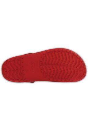 Crocs Kırmızı Unisex Crocband Kenarı Siyah Çizgili Terlik 4