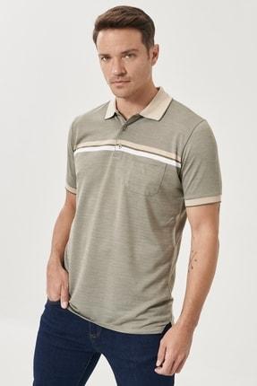 Altınyıldız Classics Erkek Haki Regular Fit Bol Kesim Polo Yaka Cepli Tişört 2