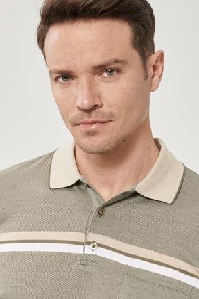 Altınyıldız Classics Erkek Haki Regular Fit Bol Kesim Polo Yaka Cepli Tişört 3