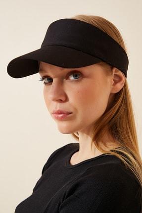 Happiness İst. Kadın Siyah Ayarlanabilir  Bantlı Tenis Şapkası PD00027 1