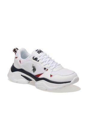 US Polo Assn GAL TEX Beyaz Kadın Sneaker Ayakkabı 100604856 0