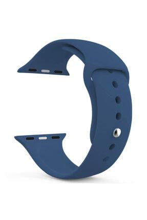 Apple Watch Series 6 44mm Uyumlu Silikon Kordon Lacivert 0