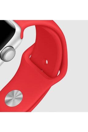 Apple Watch Series 6 44mm Uyumlu Silikon Kordon Lacivert 4