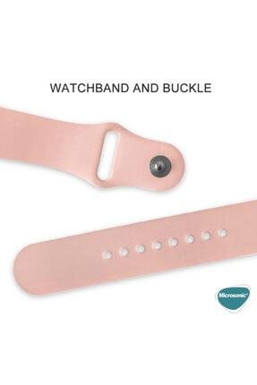Apple Microsonic Watch Series 5 44mm Kordon 360 Coverage Silicone Siyah 4