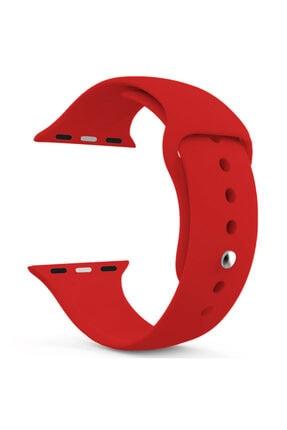 Apple Microsonic Watch Series 3 38mm Silikon Kırmızı Kordon 1