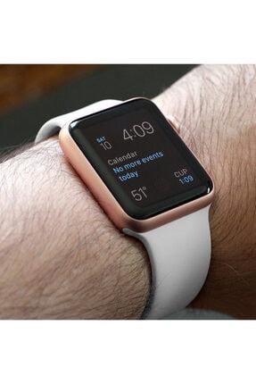 Apple Microsonic Watch Series 3 38mm Silikon Beyaz Kordon 4