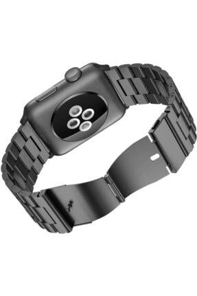 Apple Microsonic Watch Series 4 44mm Metal Stainless Steel Siyah Kordon 4
