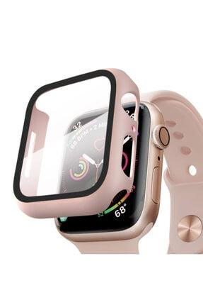 Apple Microsonic Watch Series 6 44mm Kılıf Matte Premium Slim Watchband Rose Gold 0