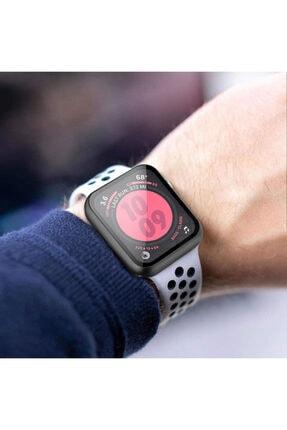 Apple Microsonic Watch Series 6 44mm Kılıf Matte Premium Slim Watchband Rose Gold 4