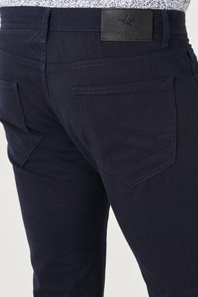 Altınyıldız Classics Erkek Lacivert Kanvas Slim Fit Dar Kesim %100 Koton 5 Cep Pantolon 3