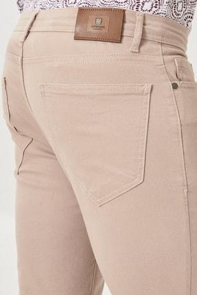 Altınyıldız Classics Erkek Bej Kanvas Slim Fit Dar Kesim 5 Cep Pantolon 3
