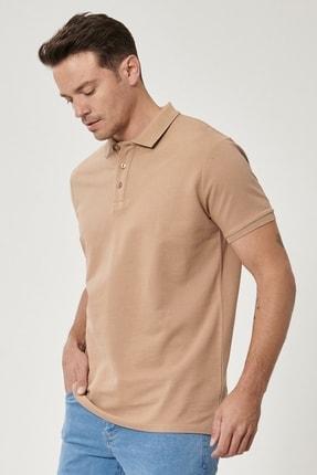 Altınyıldız Classics Erkek Vizon Polo Yaka Cepsiz Slim Fit Dar Kesim %100 Koton Düz Tişört 1