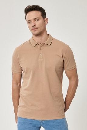 Altınyıldız Classics Erkek Vizon Polo Yaka Cepsiz Slim Fit Dar Kesim %100 Koton Düz Tişört 2