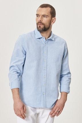 Altınyıldız Classics Erkek Açık Mavi Tailored Slim Fit Klasik Gömlek Yaka %100 Koton Gömlek 1