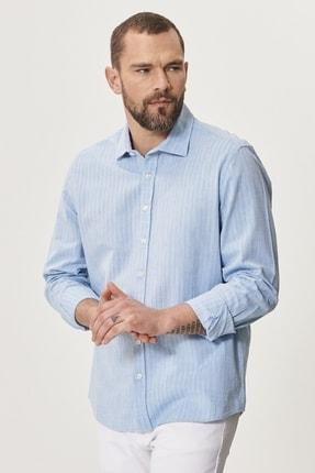 Altınyıldız Classics Erkek Açık Mavi Tailored Slim Fit Klasik Gömlek Yaka %100 Koton Gömlek 2