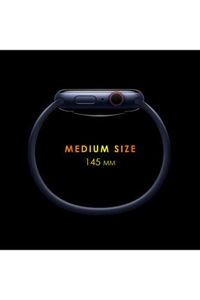 Apple Microsonic Watch Series 6 40mm Kordon, (medium Size, 145mm) New Solo Loop Siyah 2