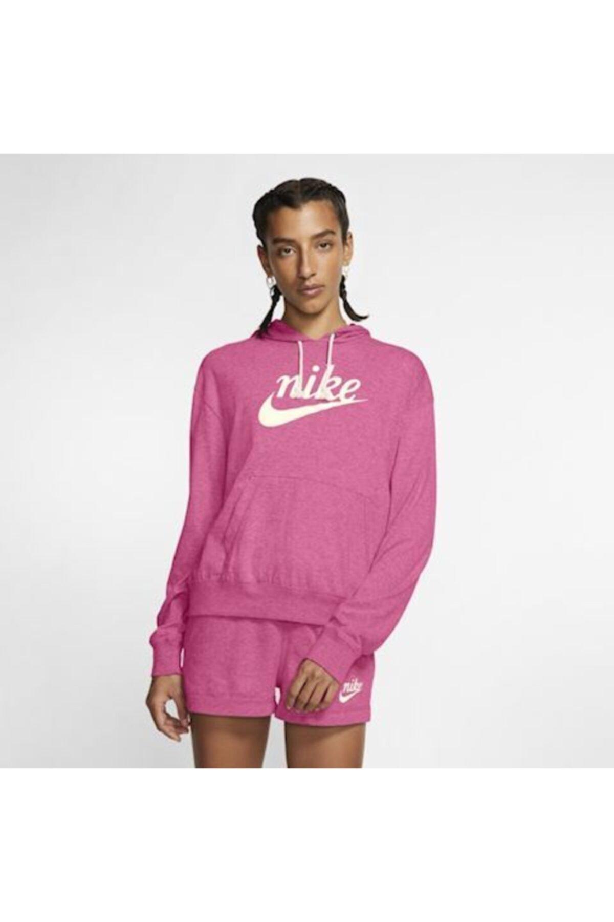 Kadın Sportswear Gym Vintage Hoodie Cj1691 684