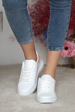 Pembe Potin Kadın Beyaz Pudra Ayakkabı 2