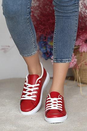 Pembe Potin Kadın Kırmızı Ayakkabı 2