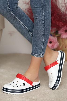 Pembe Potin Unisex Beyazlacivert Sandalet 0