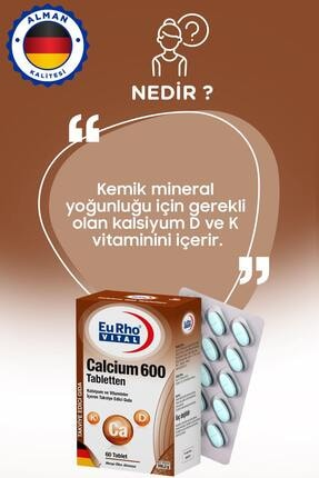 Eurho Vital Calcium 600 Mg 60 Tablet 1