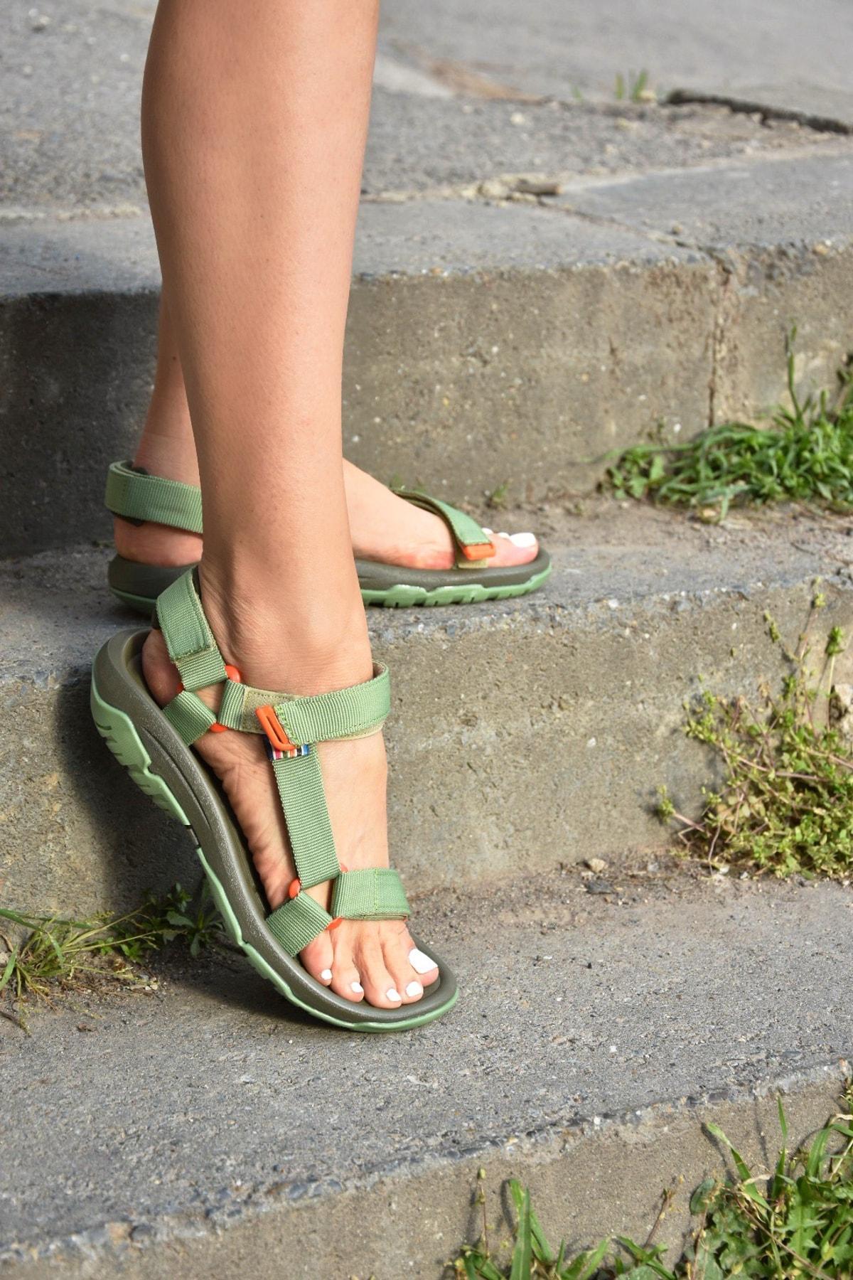 Kumaş Kadın Cırtlı Trekking Sandalet K838862504
