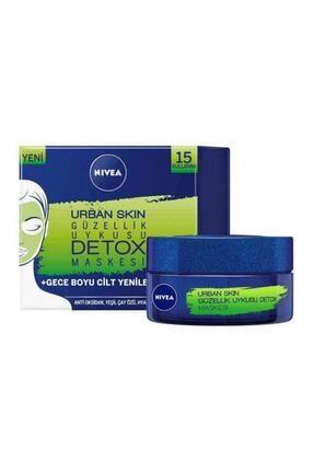 Nivea Urban Skin Detox Güzellik Uykusu Maskesi 50 ml 0
