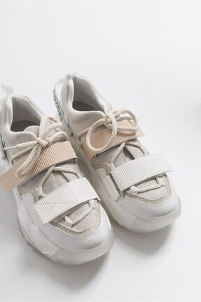 LuviShoes Beyaz Rugan Spor Ayakkabı 65140 0