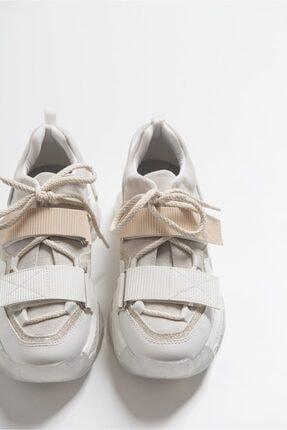 LuviShoes Beyaz Rugan Spor Ayakkabı 65140 2