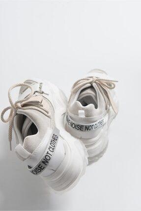 LuviShoes Beyaz Rugan Spor Ayakkabı 65140 3
