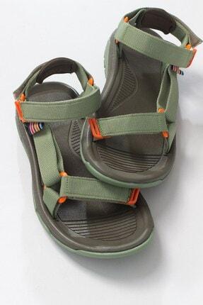 LuviShoes Kadın Haki Tekstil  Sandalet 0