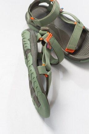 LuviShoes Kadın Haki Tekstil  Sandalet 2