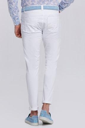 Hemington Erkek Beyaz Slim Fit 5 Cep Pantolon 2