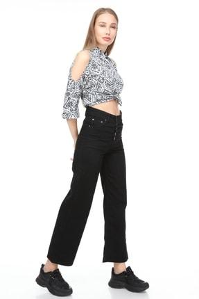 Sismo Butik Yüksek Bel Wide Leg Jeans 1