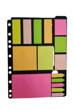 3A Paste Notes Post-it Seti (KLASÖRE TAKILABİLİR) Not Kağıdı Index 0
