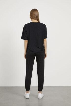Arma Life Kadın Gri Göz Nakışlı T-shirt Pantolon Takım 4