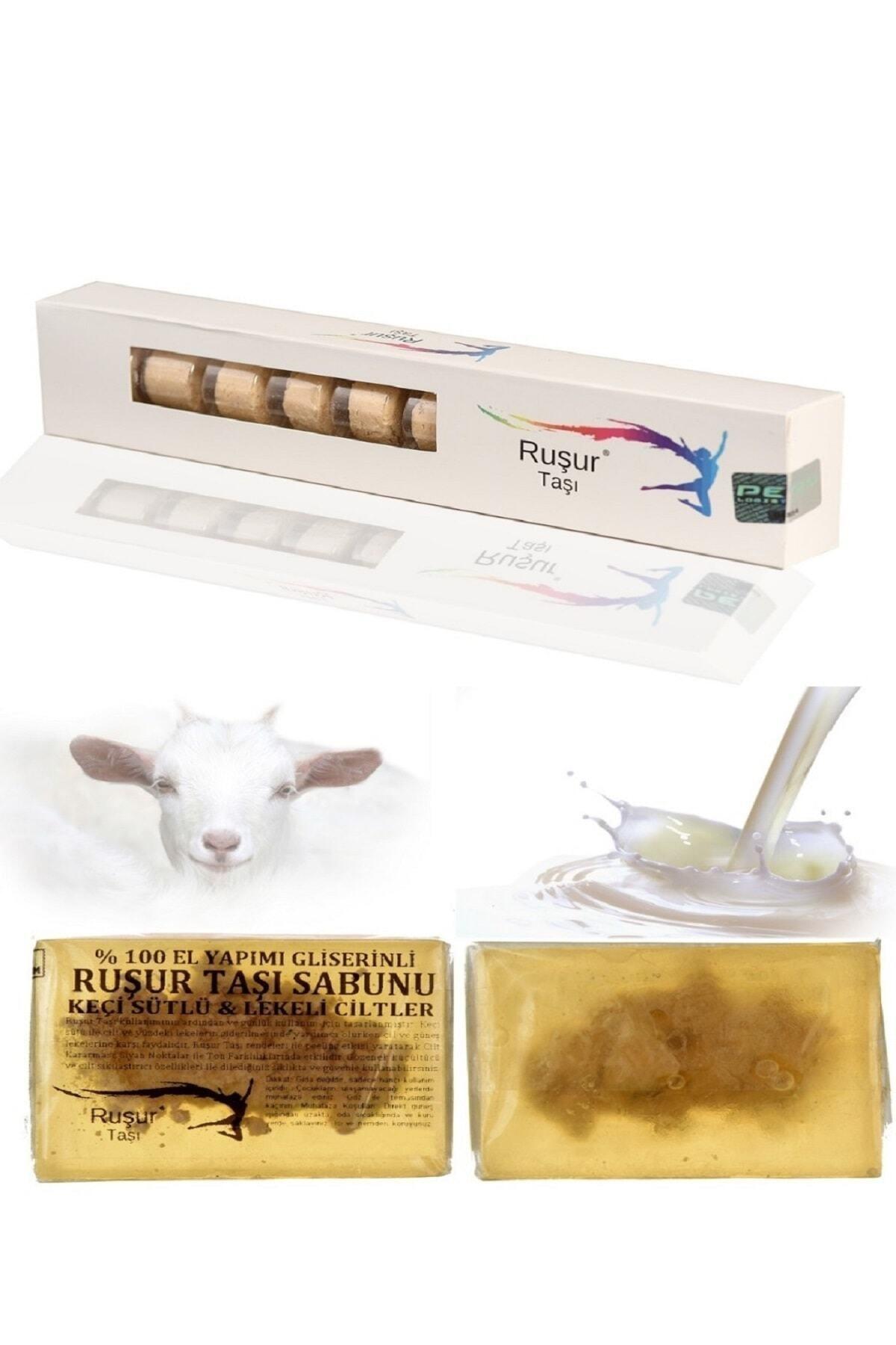 1 Kutu Ruşur Taşı Ve Ruşur Taşlı Keçi Sütlü Sabun