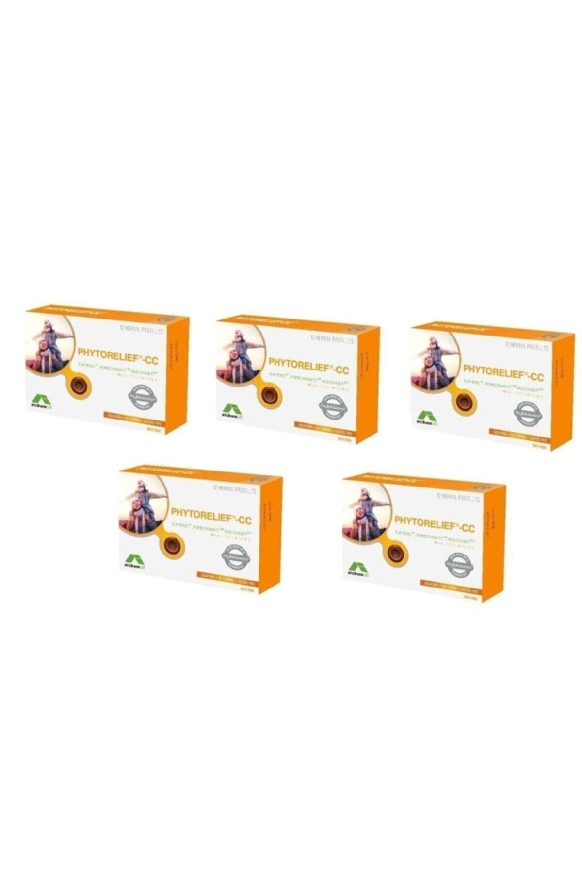Phytorelief- Doğal Boğaz Pastili 5 Li Paket