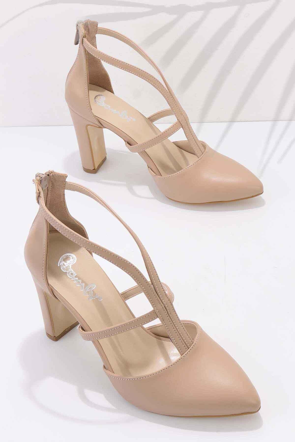 Nude Kadın Klasik Topuklu Ayakkabı K01926031209
