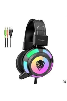 Yoro V8 Mikrofonlu Oyuncu Kulaklığı Yeni Rgb Led Işıklı Kulaklık 0