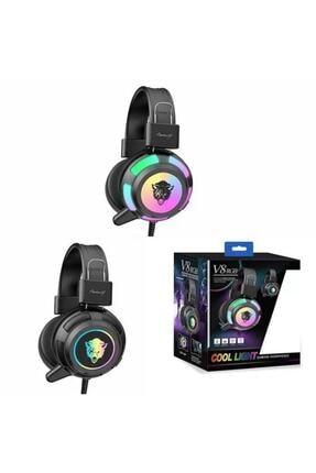 Yoro V8 Mikrofonlu Oyuncu Kulaklığı Yeni Rgb Led Işıklı Kulaklık 2