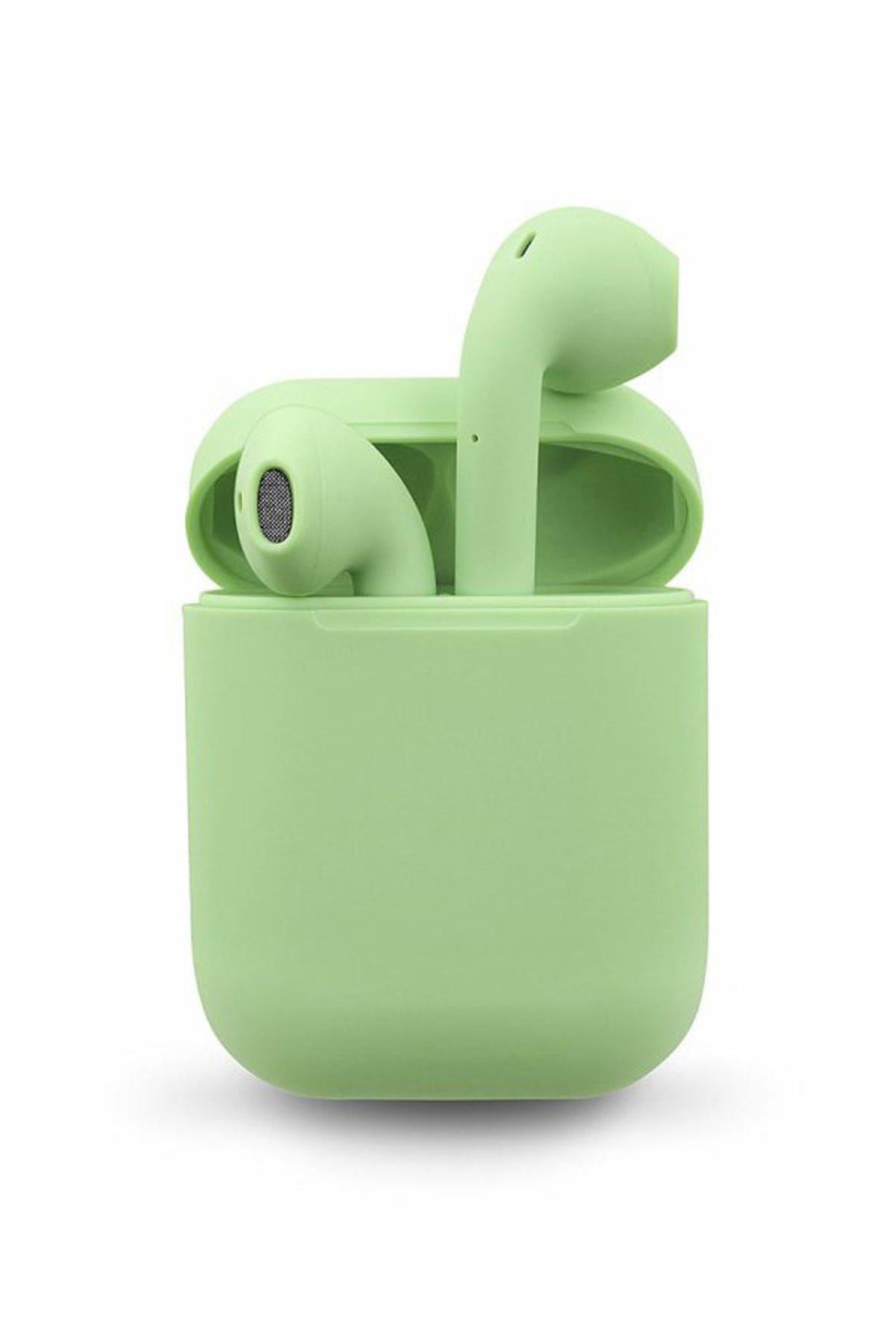 Airpods 2. Nesil i12 Yeşil Bluetooth Kulaklık Muhteşem Ses Performansı