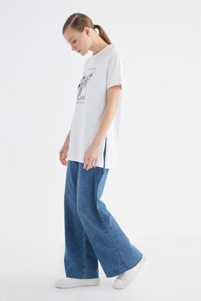 Trendyol Modest Beyaz Baskılı Örme T-Shirt-Tunik TCTSS21TN0275 2