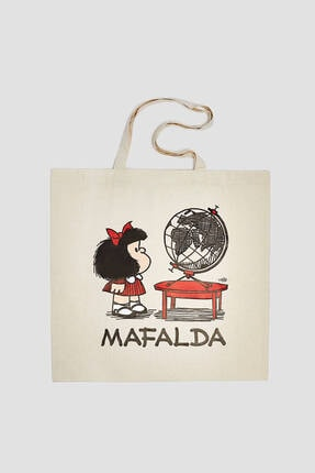 Pull & Bear Mafalda Görselli Tote Çanta 1